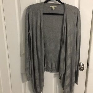 Gray waterfall cardigan